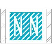 Barkley FASTM Match CTAM Series Alpha Roll Labels - Letter N - Light Blue and White Label