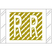 Barkley FASTM Match CTAM Series Alpha Roll Labels - Letter R - Gold and White Label