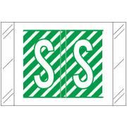 Barkley FASTM Match CTAM Series Alpha Roll Labels - Letter S - Dark Green and White Label