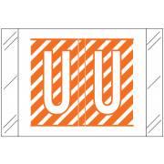 Barkley FASTM Match CTAM Series Alpha Roll Labels - Letter U - Orange and White Label