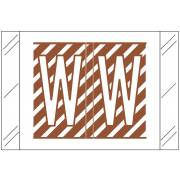 Barkley FASTM Match CTAM Series Alpha Roll Labels - Letter W - Brown and White Label