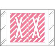 Barkley FASTM Match CTAM Series Alpha Roll Labels - Letter X - Pink and White Label