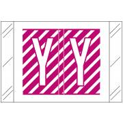 Barkley FASTM Match CTAM Series Alpha Roll Labels - Letter Y - Purple and White Label