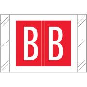 Tabbies 12030 Match CXAM Series Alpha Roll Labels - Letter B - Red Label