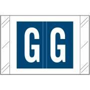 Tabbies 12030 Match CXAM Series Alpha Roll Labels - Letter G - Dark Blue Label