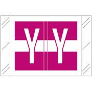 Tabbies 12030 Match CXAM Series Alpha Roll Labels - Letter Y - Purple and White Label