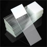 Microscope Slides - Diamond White Glass - 90° Ground Edges 90° Corners - White Frosted 1 End 1 Side