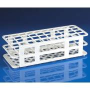 40-Place Snap-N-Racks Tube Rack for 20mm/21mm Tubes - Polypropylene - White