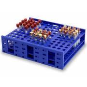 HS Single Mega Rack for 13-16mm Tubes - 120 Tubes Capacity - Blue