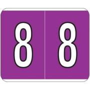 Kardex PSF-138 Match KXNM Series Numeric Roll Labels - Number 8 - Purple