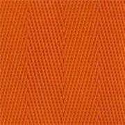 1-Piece Nylon Strap with Metal Double D Rings Buckle - 12' - Orange