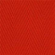 2-Piece Nylon Strap with Metal Push Button Buckle & Loop-Lok Ends - 5' - Red