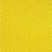 1-Piece Nylon Strap with Metal Double D Rings Buckle - 12' - Yellow