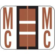 Smead BCCR Match TPAM Series Alpha Roll Labels - Letter Mc - Brown