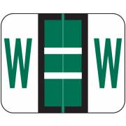 Smead BCCR Match TPAM Series Alpha Roll Labels - Letter W - Green