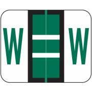 Tab Products Match TPAV Series Alpha Roll Labels - Letter W - Dark Green