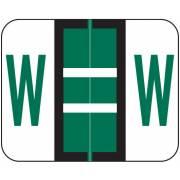 Smead BCCS Match TPPK Series Alpha Sheet Labels - Letter W - Green