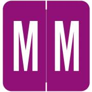 GBS 8848 Match VRPK Series Alpha Sheet Labels - Letter M - Purple