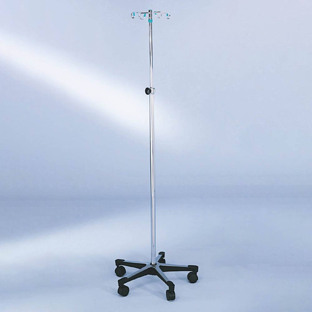 Blickman Stainless Steel 5-Leg IV Stand With Tru-Loc