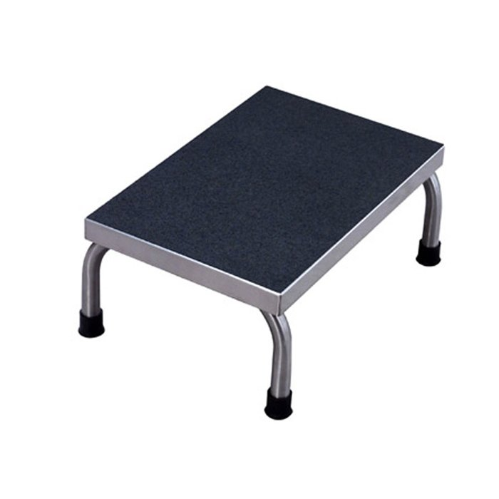 Stainless Steel Single Step Stool 18 Wide