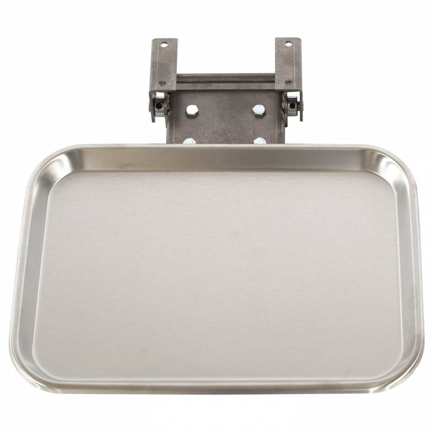Fold-Away Stainless Steel Supply Tray