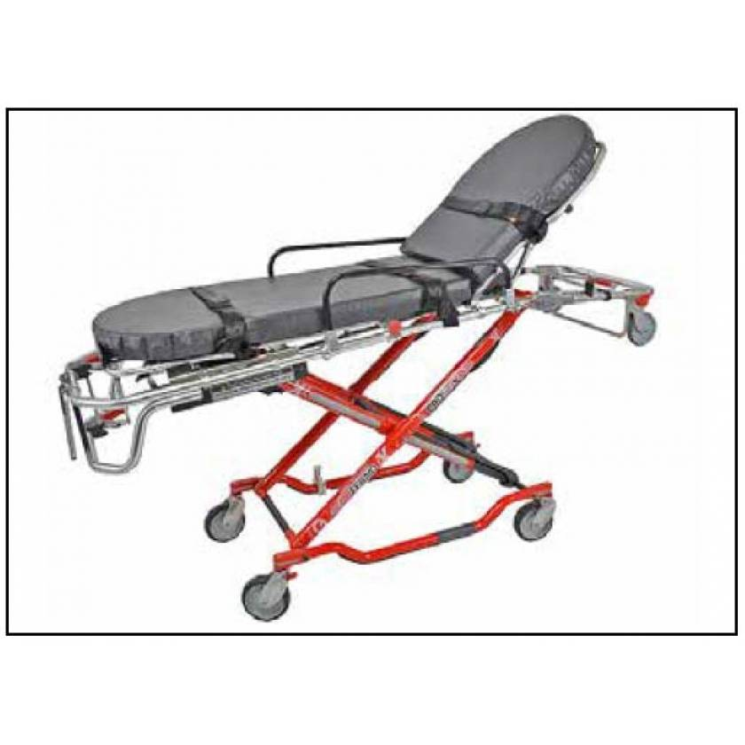 Ferno Model 35-XNM MRI Non-Magnetic Cot - Red Frame