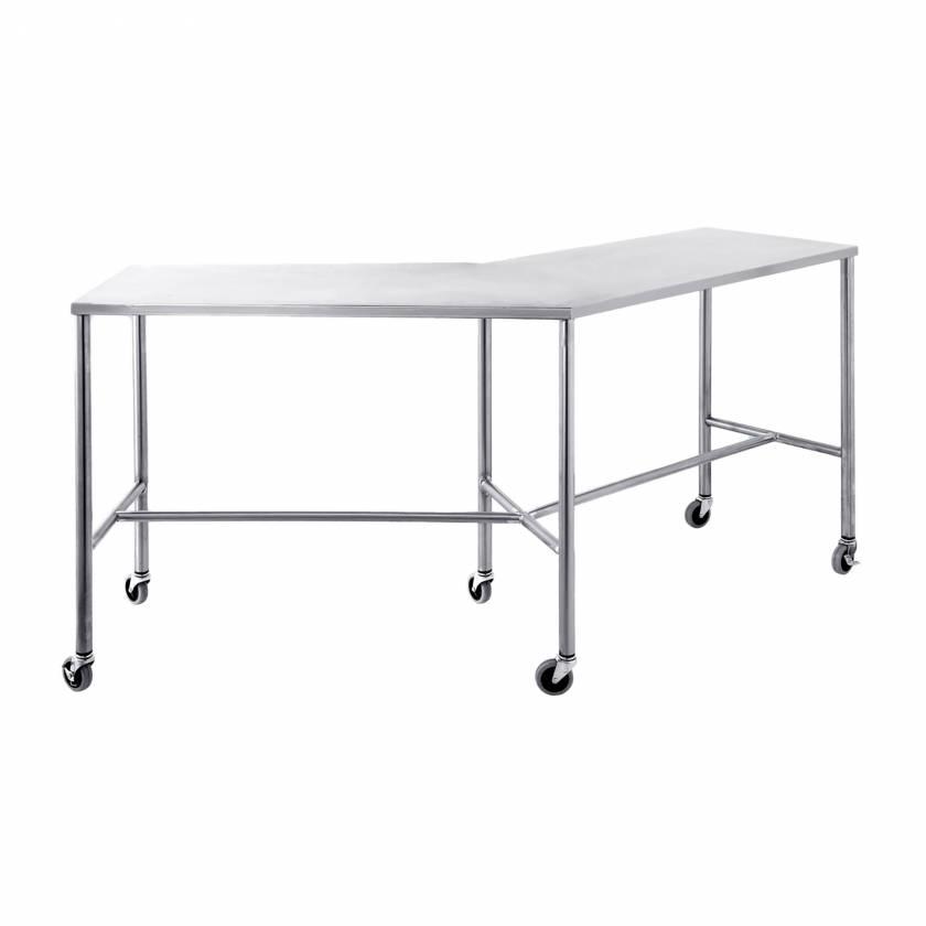 Blickman Stainless Steel Angular Instrument Table
