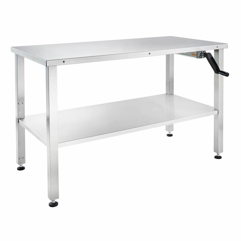 """Blickman Stainless Steel Hydraulic Instrument Table - Adjustable Height 30""""-42"""""""