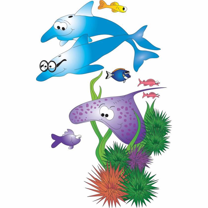 Clinton 08-CC Sea Life Wall Sticker