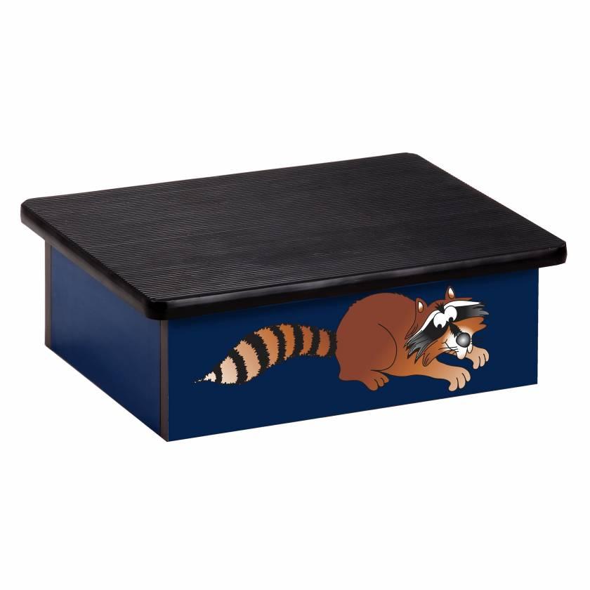 Clinton 10-CC Pediatric Laminate Step Stool - Raccoon Graphic on Blue