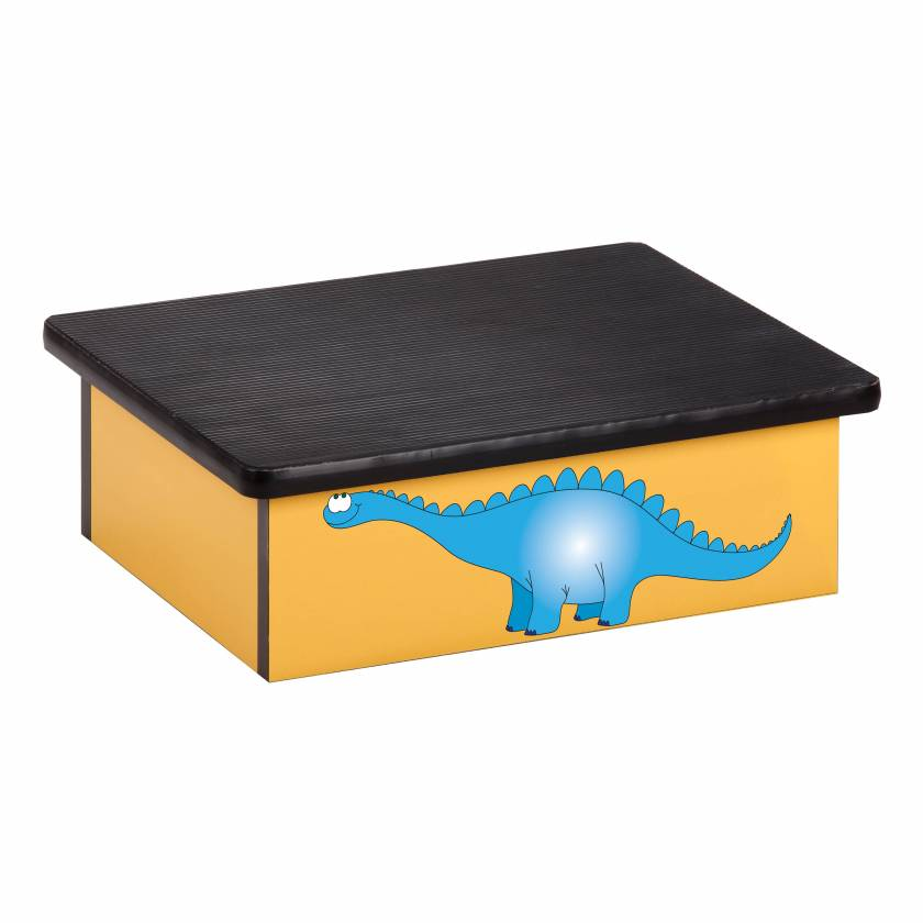Clinton 10-DD Pediatric Laminate Step Stool - Dino Days Graphic on Yellow