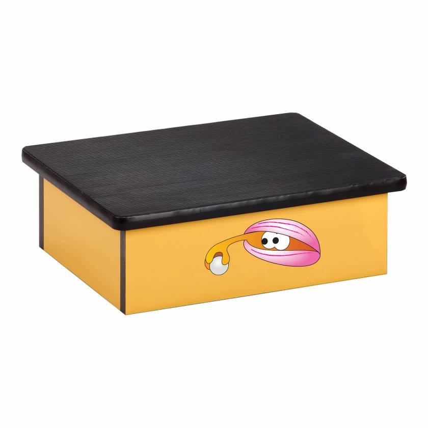 Clinton 10-OC Pediatric Laminate Step Stool - Ocean Clam Graphic on Yellow