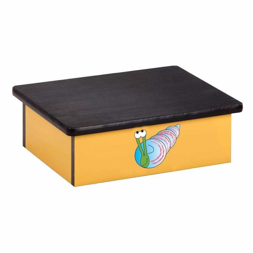Clinton 10-OS Pediatric Laminate Step Stool - Ocean Snail Graphic on Yellow