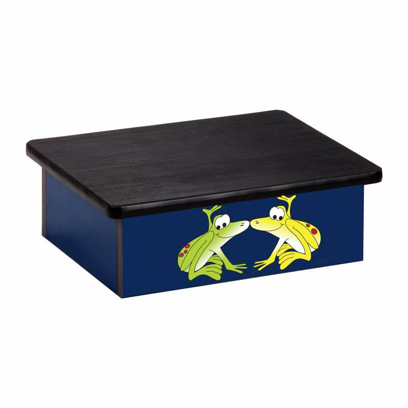 Clinton 10-RFB Pediatric Laminate Step Stool - Rainforest Tree Frogs Graphic on Blue