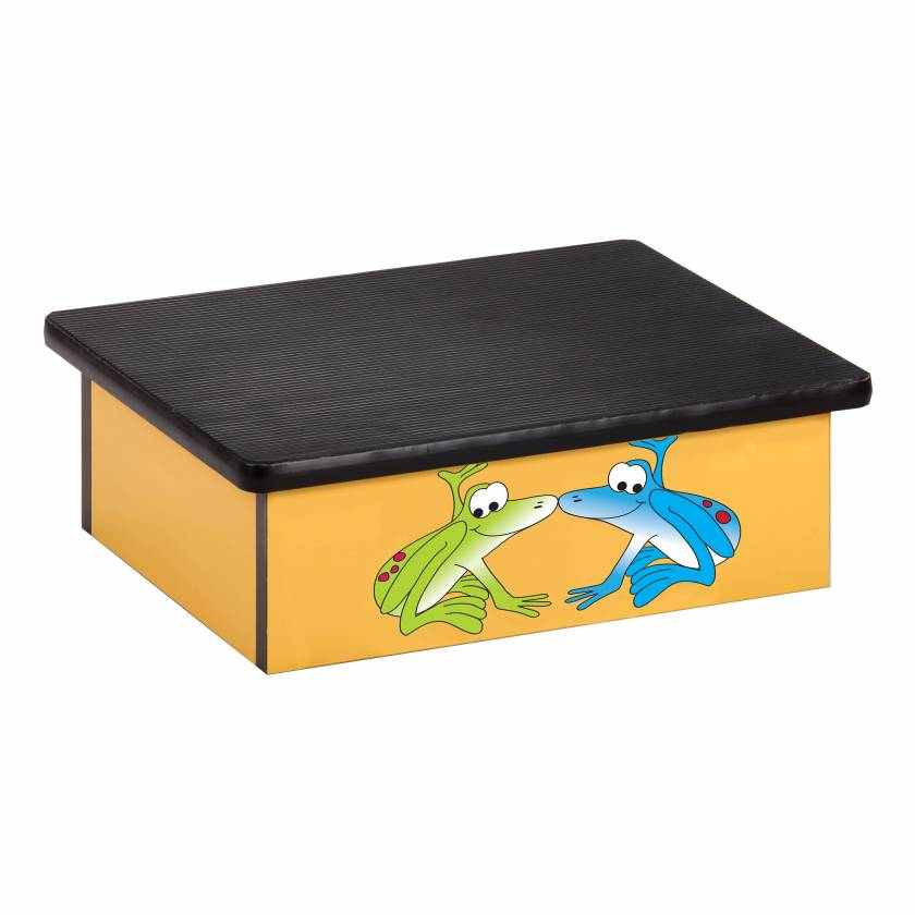Clinton 10-RFB Pediatric Laminate Step Stool - Rainforest Tree Frogs Graphic on Yellow