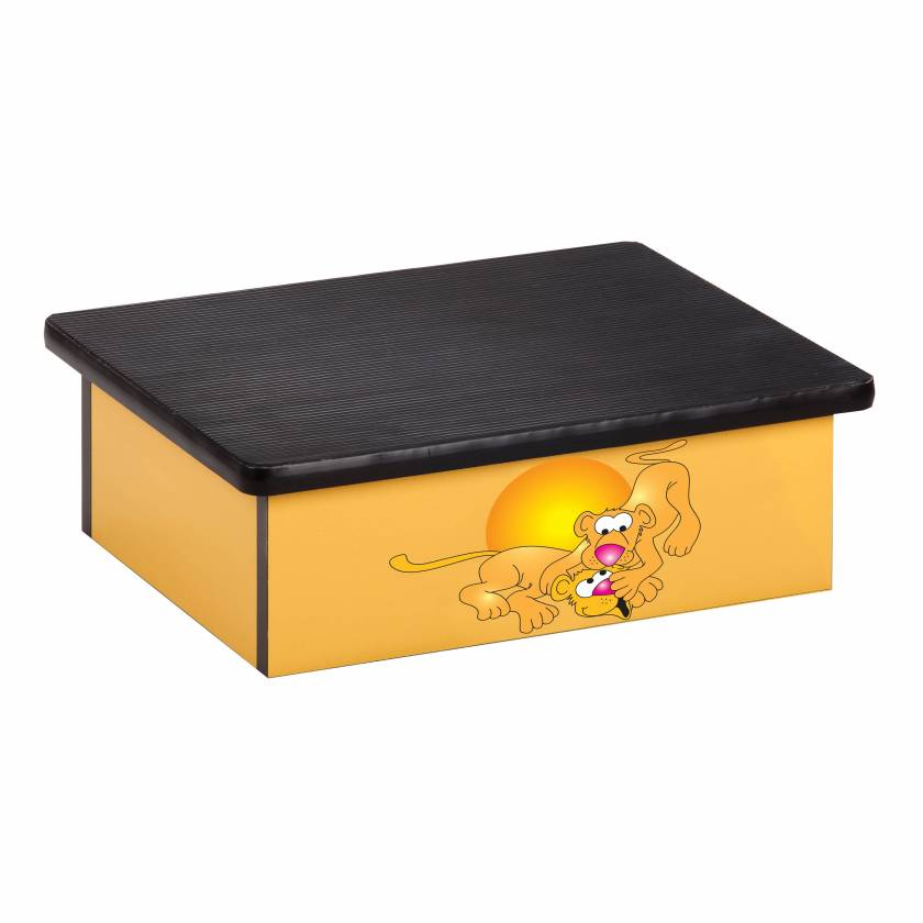Clinton 10-SL Pediatric Laminate Step Stool - Serengeti Lion Cubs Graphic on Yellow
