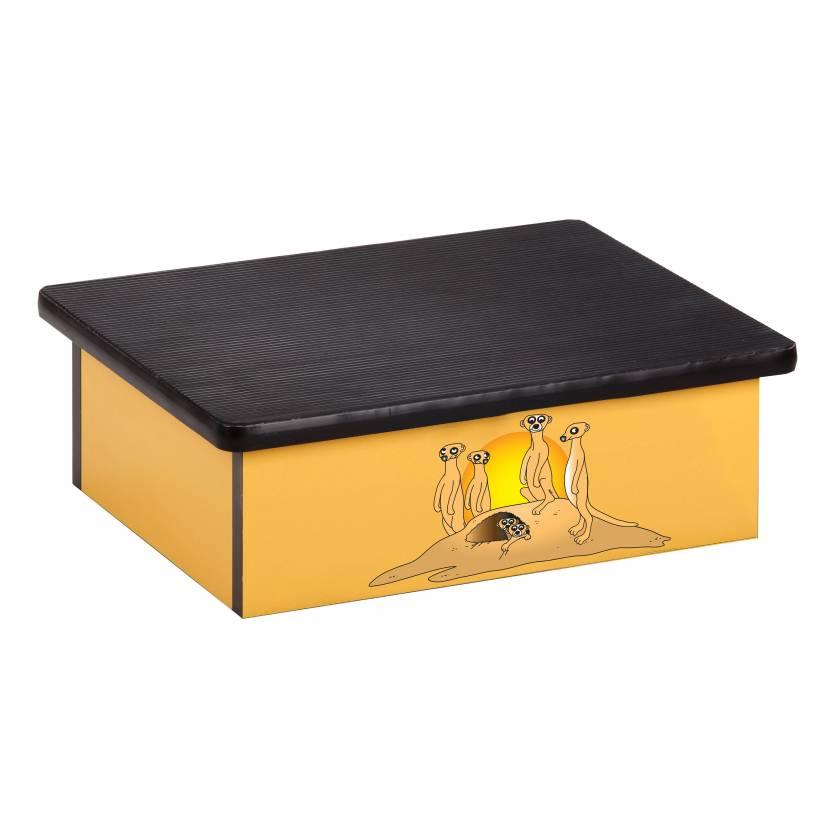Clinton 10-SM Pediatric Laminate Step Stool - Serengeti Meerkats Graphic on Yellow