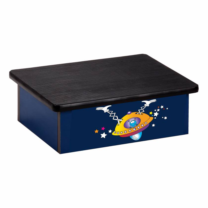Clinton 10-SP Pediatric Laminate Step Stool - Space Place Alien Graphic on Blue