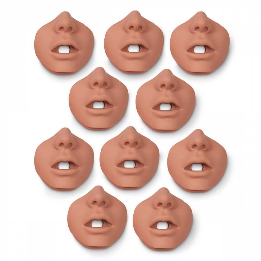 Simulaids Face Pieces for Brad Jr. Manikin - 10 Pk. - Light