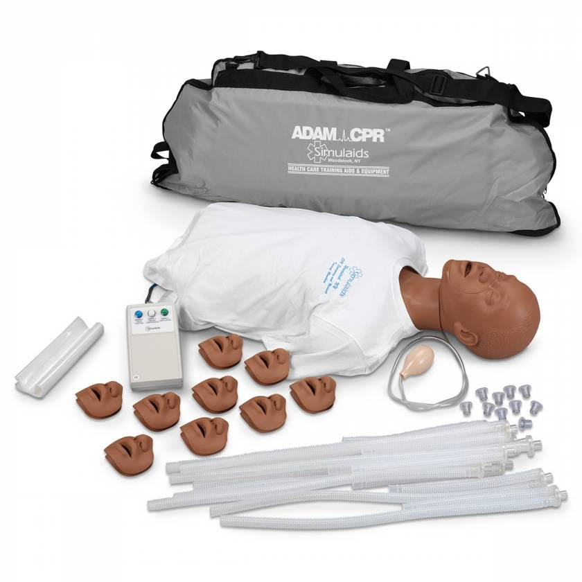Simulaids David CPR Training Manikins with Electronics and Carry Bag - Dark