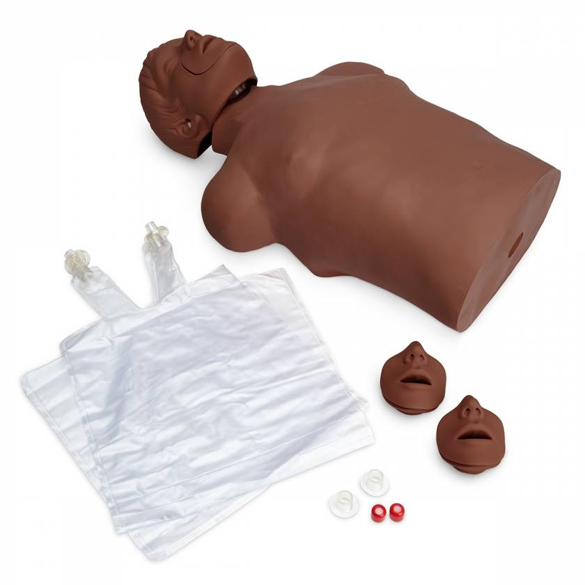 Simulaids Brad Compact CPR Training Manikin with Nylon Carry Bag - Dark