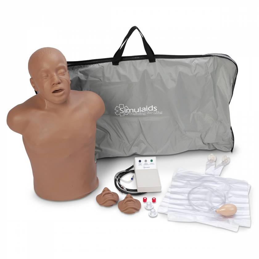 Simulaids Paul Compact CPR Training Manikin with Electronics