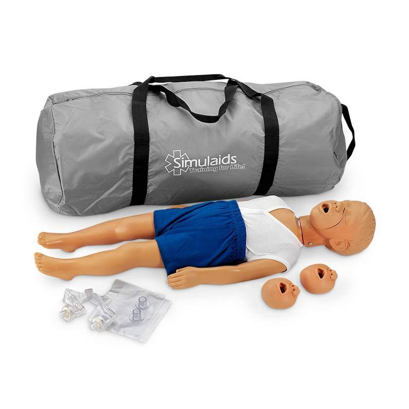 Simulaids Kyle 3-Year-Old CPR Manikin with Carry Bag - Light