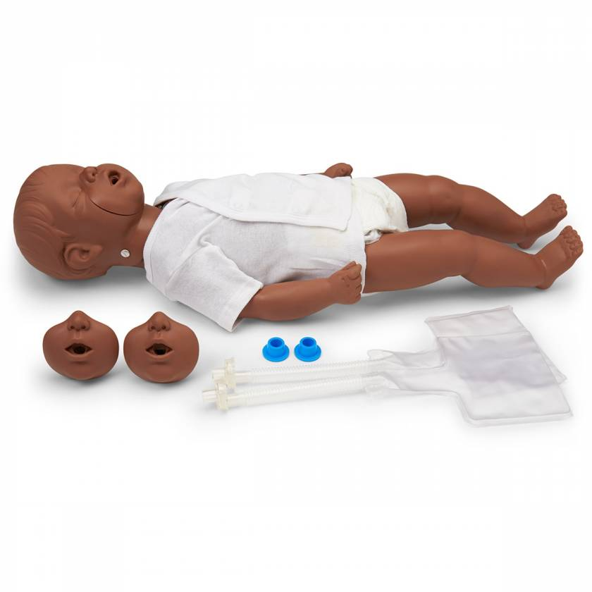 Simulaids Kevin Infant CPR Manikin with Carry Bag - Dark