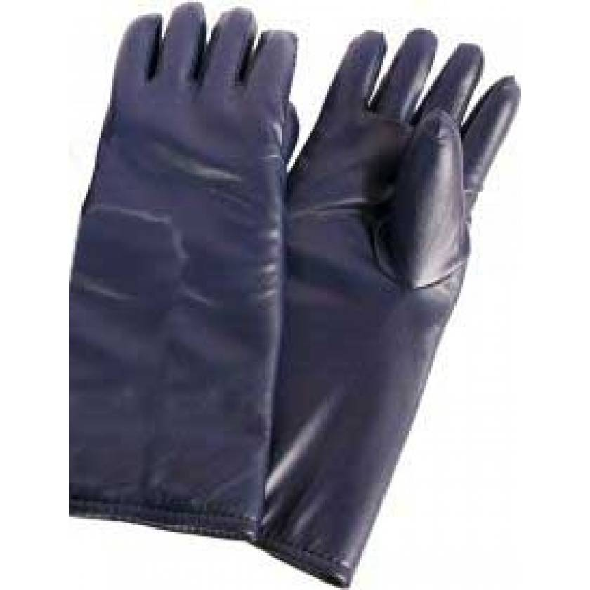 Seamless Lead Vinyl Gloves - Dark Blue