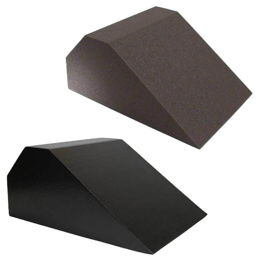 "Domico Med-Device 27 Degree Torso Block Foam Positioner 7""H x 16""W x 12""L - #100 Uncovered Standard Foam & #100-SCB ScanCoat Black Foam"