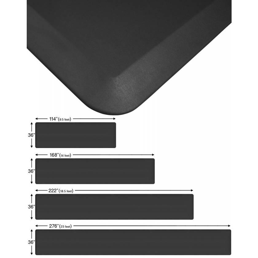 """NewLife Eco-Pro Continuous Comfort Anti-Fatigue Floor Mats - 36"""" Wide - Black"""