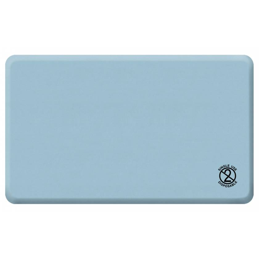 """GelPro Medical Disposable Surgical Comfort Floor Mat - Size 18"""" x 30"""" - Columbia Blue"""