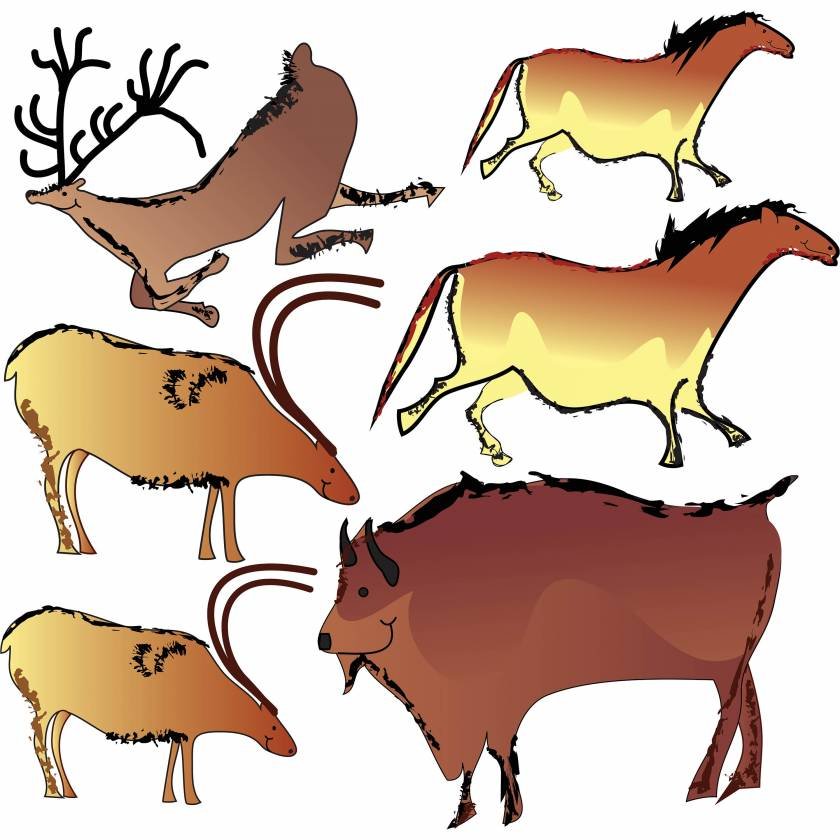 Clinton 11-CC Cave Paintings Wall Sticker