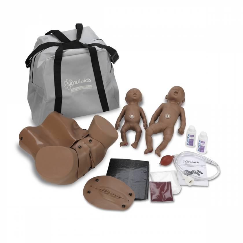 Simulaids Forceps/Vacuum Delivery OB Manikin - Dark Skin Tone